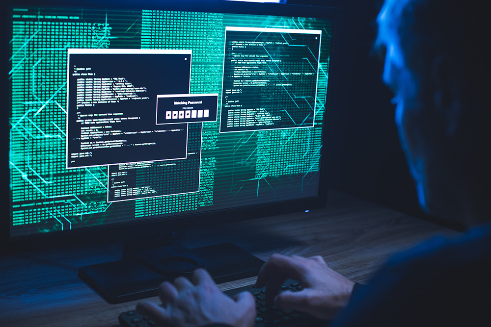 Cyber Security consultant scanning the dark web